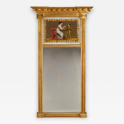 FEDERAL MIRROR WITH EGLOMISE PANEL