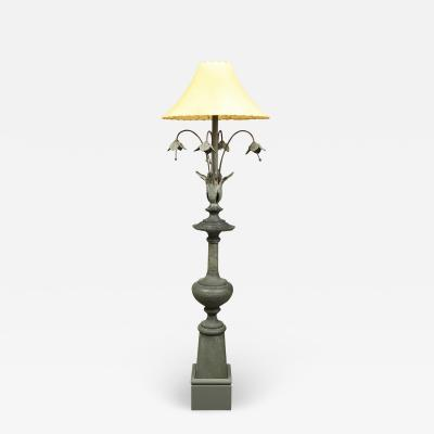 FLOOR LAMP MADE FROM A PERIOD SPIRE