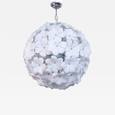 FLOWER SPUTNIK CEILING LIGHT PAIR