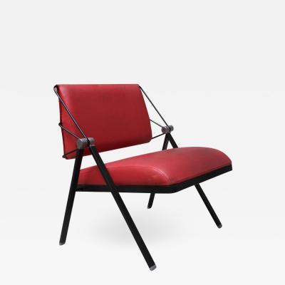 FORMANOVA Milano Red leatherette armchairs by Formanova 1970s