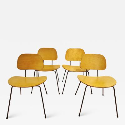 FOUR CHAIRS IN THE MANNER OF WIM RIETVELD PLYWOOD IRON