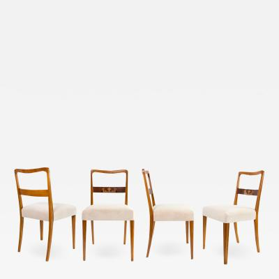 FOUR SWEDISH ART DECO CHAIRS IN ELM Scandinavian Modern