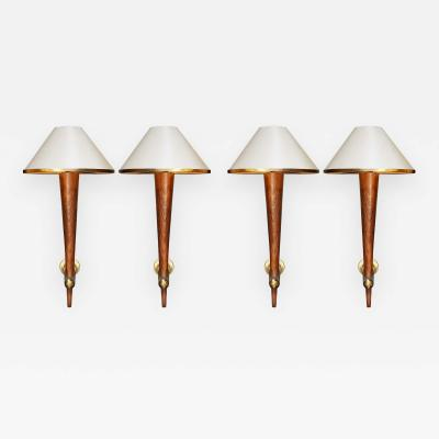 FOUR sconces from the Cafe Francais France 1970