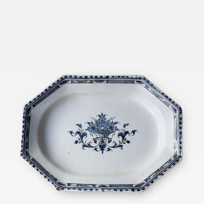 FRENCH 18TH CENTURY OCTAGONAL PLATTER OR SERVING DISH