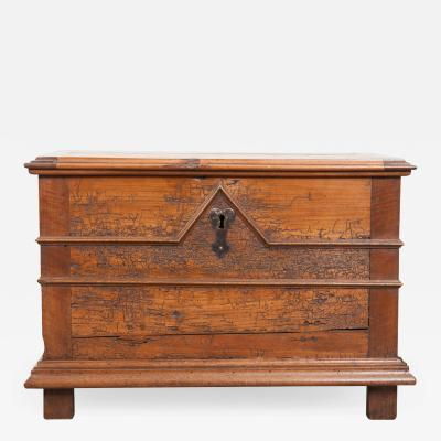 FRENCH 18TH CENTURY TRANSITIONAL WALNUT TRUNK