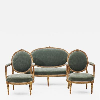 FRENCH 19TH CENTURY LOUIS XVI STYLE FURNITURE SET