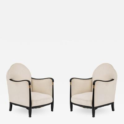 FRENCH ART DECO BERG RE ARM CHAIRS