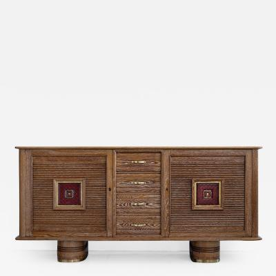 FRENCH ART DECO SIDEBOARD IN CERUSED OAK CIRCA 1940