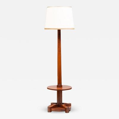 FRENCH ART DECO TULIPWOOD FLOOR LAMP