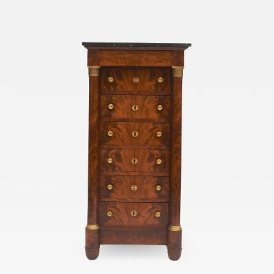 FRENCH CHARLES X SEVEN DRAWER TALL CHEST OF DRAWERS