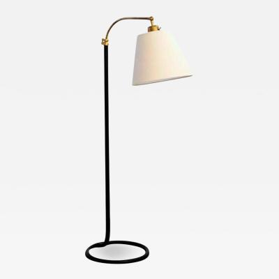 FRENCH FLOOR LAMP WITH CIRCLE BASE
