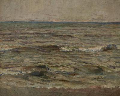 FRENCH SEASCAPE OIL PAINTING 1931