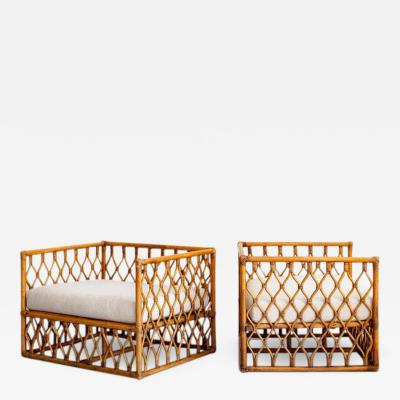 FRENCH SQUARE BAMBOO CHAIRS
