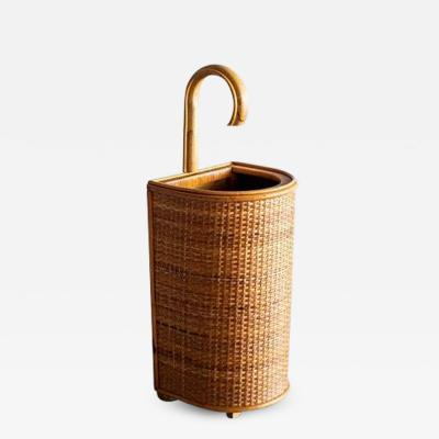 FRENCH WICKER UMBRELLA HOLDER