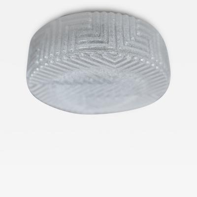 FROSTED AUSTRIAN FLUSH MOUNT
