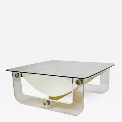 Fabio Lenci Fabio Lenci in the style of Coffee Table in Plex and Fabric