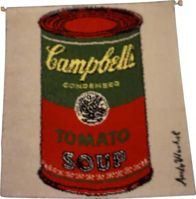 Fabulous Andy Warhol Campbell s Soup Can Rug Tapestry Mid Century Modern