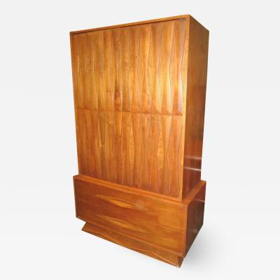 Fabulous Architectural 3 Dimensional Tall Dresser Mid century Modern