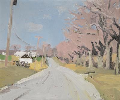 Fairfield Porter Cobb Road Water Mill in April 1966