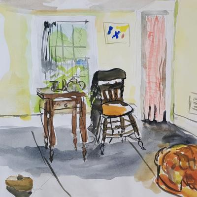 Fairfield Porter Interior with Table Chair and Window n d