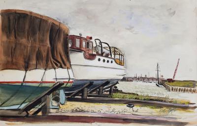 Fairfield Porter Marina scene