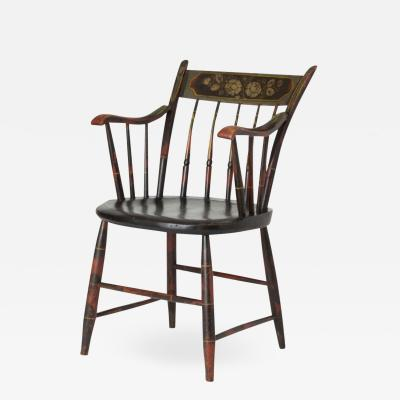 Fancy Painted Windsor Arm Chair