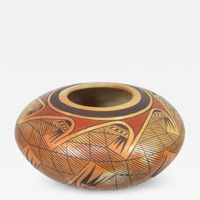 Fannie Nampeyo Hopi seed jar with migration design by Fannie Nampeyo