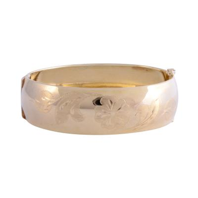 Faro 14K Hand Engraved Bracelet