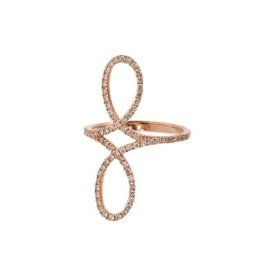 Fashion Ring with Diamonds in Rose Gold