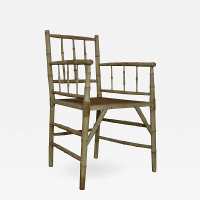 Faux Bamboo Accent Chair