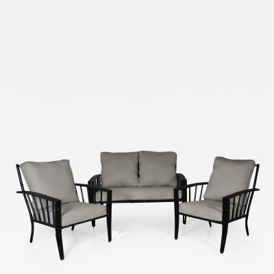 Faux Bamboo Aluminum Sofa Set