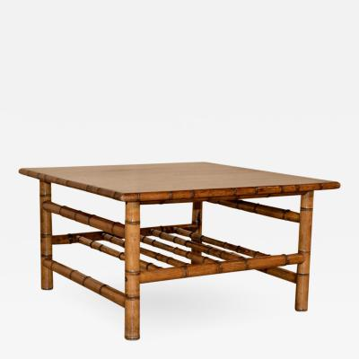 Faux Bamboo Coffee Table c 1950