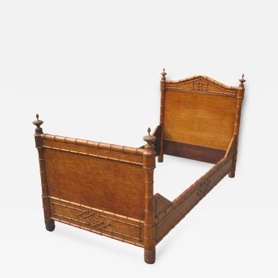 Faux Bamboo Single Bed