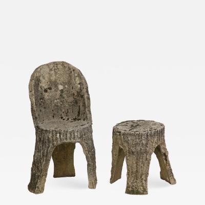 Faux Bois Chair Stool