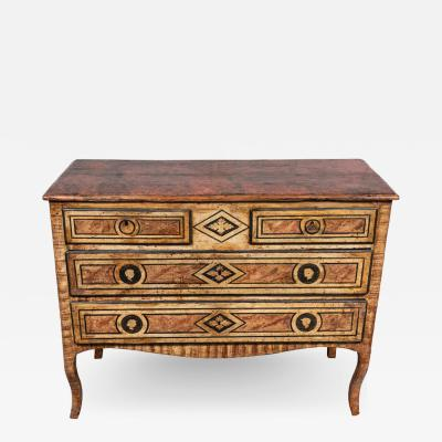 Faux Marbled 18th Century Venetian Commode