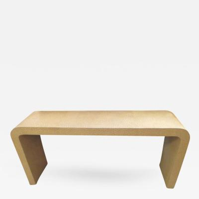 Faux Ostrich Console Table