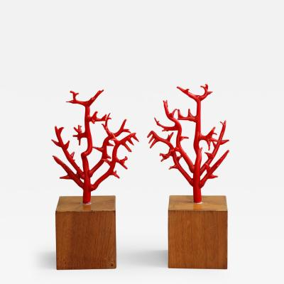 Faux coral branches