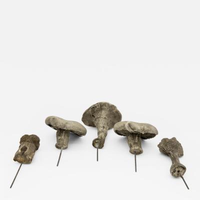 Faux garden mushrooms