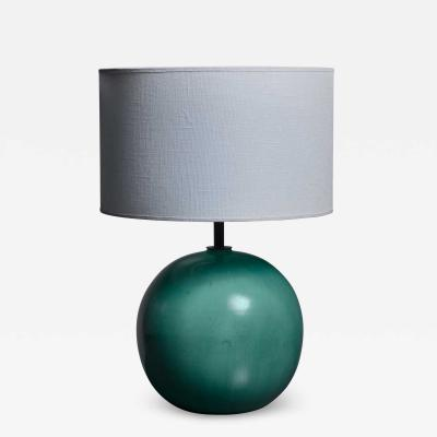 Fayence Manufactur Kandern Green ceramic table lamp by Fayence Manufactur Kandern Germany