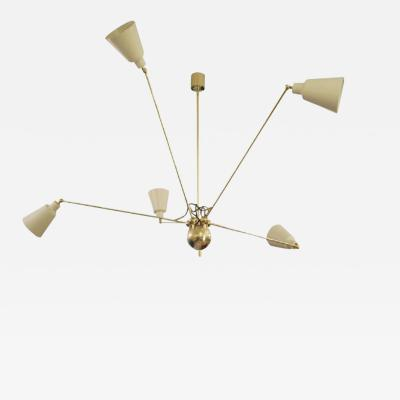 Fedele Papagni CREAM COLOUR STAR FIVE CEILING LIGHT