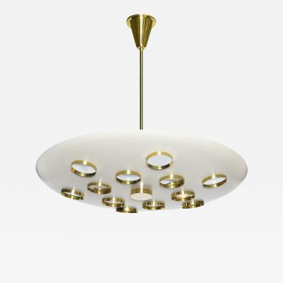 Fedele Papagni Contemporary Saucer Pendant by Fedele Papagni