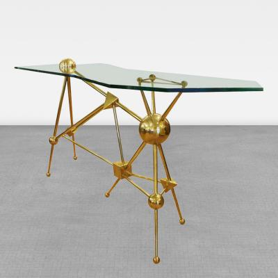 Fedele Papagni Limited Edition Italian Brass Console By Fedele Papagni for Gaspare Asaro 2013
