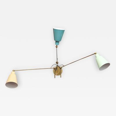 Fedele Papagni Three Arm Adjustable Wall Light by Fedele Pagagni