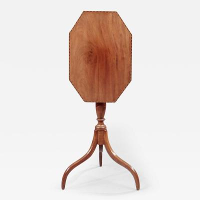 Federal Candlestand with an Octogonal Inlaid Top