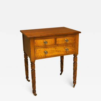 Federal Cherry and Tiger Maple Stand New York State Circa 1815