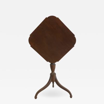 Federal Mahogany Tilt Top Candlestand Table circa 1815
