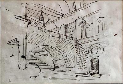 Felice Giani Architectural Fantasy recto verso