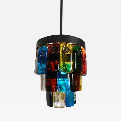 Felipe Derflinger A Mexican Polychrome Glass Lantern by Felipe Derflinger for Feders