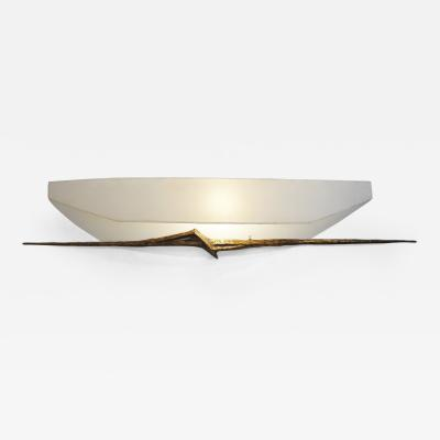 Felix Agostini Large bronze wall sculpted sconce by Felix AGOSTINI 1960