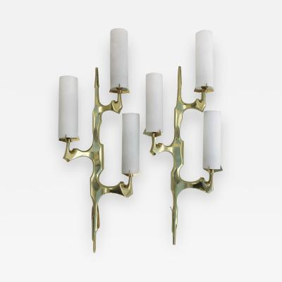 Felix Agostini Pair of Felix Agostini for Maison Arlus Sconces